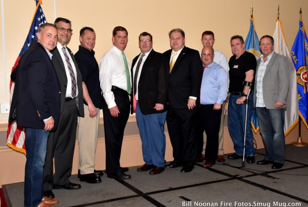 Boston Firefighters Local 718 with Mayor Marty Walsh