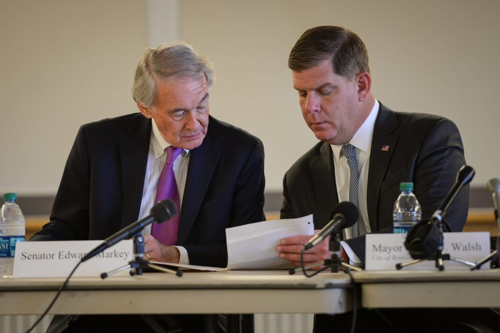 Ed Markey and Marty Walsh