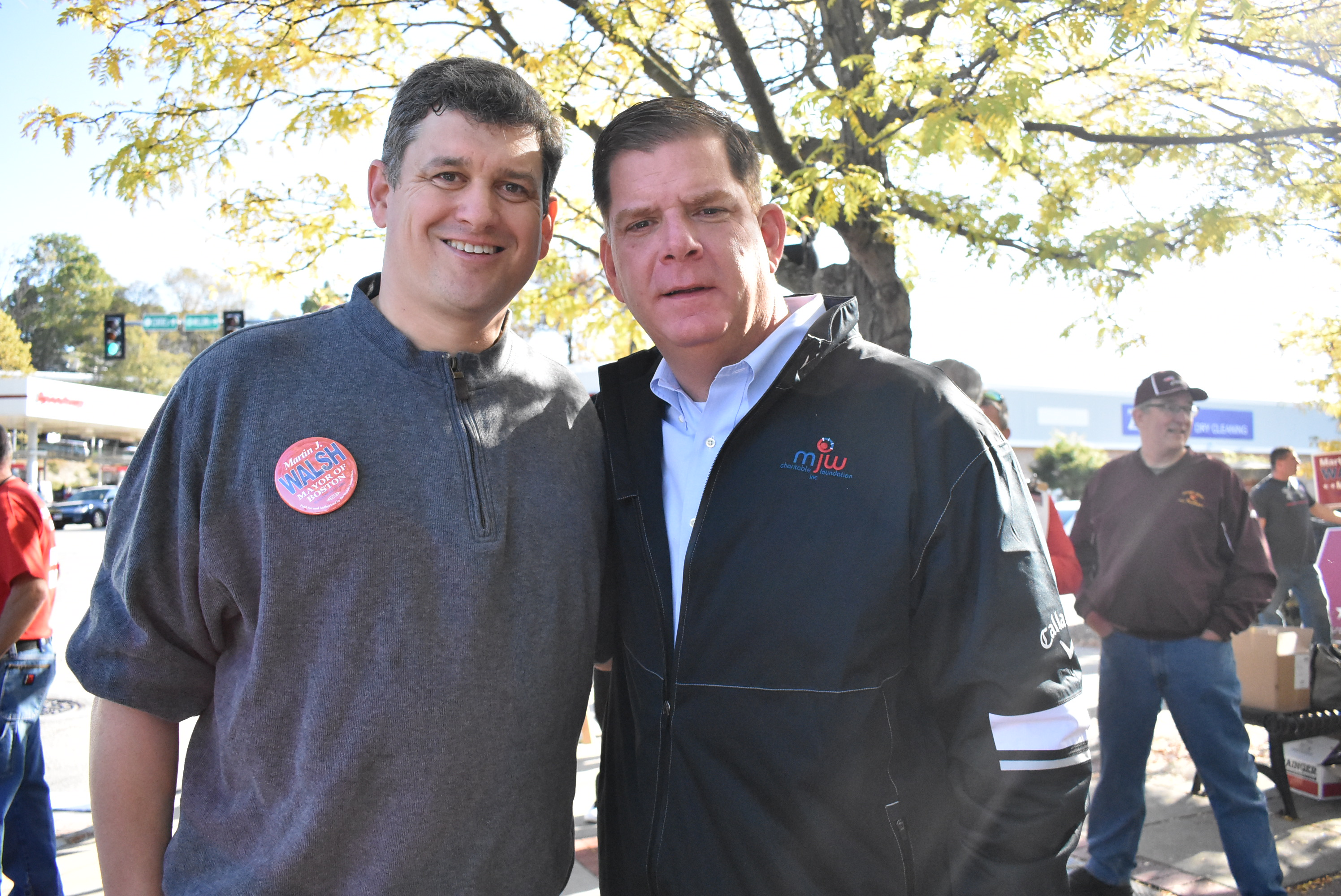 John Connolly with Marty Walsh